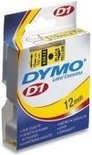 Dymo 45010 Tape Type D1 - 12mm X 7m / Zwart