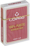 Copag 100% plastic Poker Normal Faces Rood