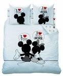 Disney Minnie Mouse The End - Dekbedovertrek - Tweepersoons - 200x200 cm - Wit