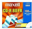 Maxell CD-R 80min/700MB 10 stuks in jewelcase - Printable