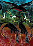 Heye Puzzel - Tinga Tinga African Art: Cranes