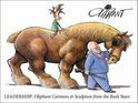Leadership: Oliphant Cartoons & Sculpture From The Bush Years