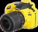 easyCover Silicone cover voor Nikon D3200 geel