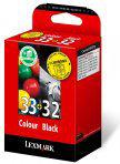 Lexmark 32 / 33 - Inktcartridge / Zwart / Kleur