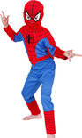 Spiderman costume & mask kid size:L