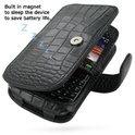 Blackberry Curve 8520/9300 lederen PDair tasje booktype croco - zwart