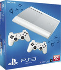 Playstation 3, Console + 500 GB Pack M-Chassis (Classic White) + 2 DualShock Controllers White + PS Plus Voucher  PS3