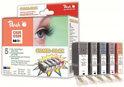Peach C525 / C526 / PGI525 / CLI526 - Inktcartridge / Zwart / Cyaan / Magenta / Geel