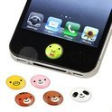 Home Button Stickers Cute Animals 6st