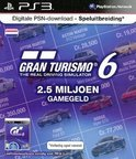 Sony PlayStation Gran Turismo 6 Abonnement Nederland 2,5 Miljoen Game Credits PS3 + PSN