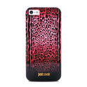 PURO iPhone 5/5S TPU Cover Just Cavalli Leopard Cover Double Stripe Red