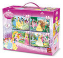 4 in 1 Puzzel Koffer Disney Princess