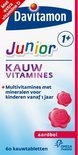 Davitamon Junior 1+ Kauwvitamines - Aardbei - 120 Kauwtabletten - Multivitamine
