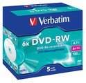 Verbatim - 5 x DVD-RW - 4.7 GB 6x - jewel case