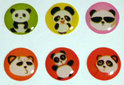 Home Button Stickers Panda 6st
