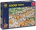 Jan van Haasteren Tennis - Puzzel - 1000 stukjes