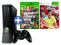 Xbox 360 Slim 4GB + 1 Controller + GTA 4 + Top Spin 4