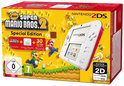Nintendo 2DS Handheld Console + New Super Mario Bros. 2 + alle 30 extra Muntenjachtlevels - Special Edition - Wit + Rood 2DS Bundel