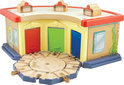 Chuggington Hout Trainings Remise Speelset