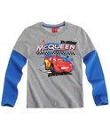 Disney Cars Jongensshirt - Lichtgrijs / Blauw - Maat 98