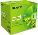 Sony CD-R 80 Min.700 MB 48X Jewel Case 10-Pack