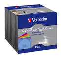 Verbatim CD Cases - Storage CD slim jewel case (pack of 25 )