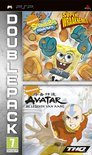 Spongebob, Super Wraaknemer + Avatar, De Legende Van Aang (double Pack) Psp