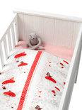 Coming Kids Hoepla - Overtrek & Sloop 60x120 cm - Wit/Rood