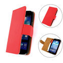 TCC Luxe Hoesje Samsung Galaxy S Advance Book Case Flip Cover I9070 - Rood