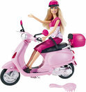 Barbie met Vespa Scooter