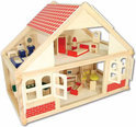 Beeboo Houten Poppenhuis met Toebehoren
