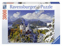 Ravensburger Slot Neuschwanstein in winter - Legpuzzel - 3000 Stukjes