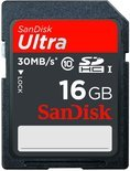Sandisk Ultra SD kaart 16 GB