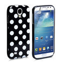 Samsung Galaxy S4 Polka Dot case cover - zwart