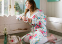Funny Flower R7 Bathrobe Pink S