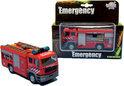 Metalen brandweerauto met Licht en Geluid