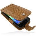 HTC Sensation 4G telefoonhoesje fliptype PDair - bruin croco