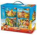 4 in 1 Puzzel Koffer Disney Lion King