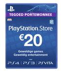 Sony PlayStation Network Voucher Card 20 Euro Nederland - PS4 + PS3 + PS Vita + PSN