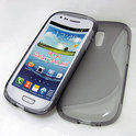 Cover hoesje Samsung Galaxy S3 Mini 'S-design' - grijs