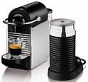 Magimix Nespresso Apparaat  La M110  Pixie + Aeroccino 3 Melkopschuimer - Zilver