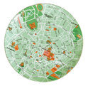 Seletti The World Dinnerwar - Maps Bord 'Milan' - Ø 27 cm - Groen