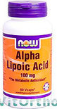Now Alpha Lipoic Acid Capsules 60 st