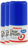 Lactona Clear Breath - 3x 25 ml - Mondspray - Voordeelverpakking
