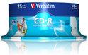 Verbatim 43439 CD-R AZO Wide Inkjet Printable Schijven - 25 Stuks / Spindel