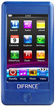 Difrnce MP3010 - MP4 speler - 4 GB - Blauw