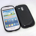Cover hoesje Samsung Galaxy S3 Mini 'S-design' - zwart