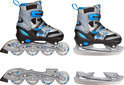 Inline Skates Combo Blauw - Maat 34-37