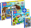 Mega Bloks SpongeBob Squarepants Voordeelbundel:  Krusty Krab Food Fight + Rockband Figure Pack + Invisible Boatmobile Jellyfish Rescue