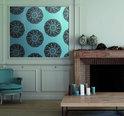 Dutch Wallcoverings Vliesbehang dessinflock -  Bruin/blauw